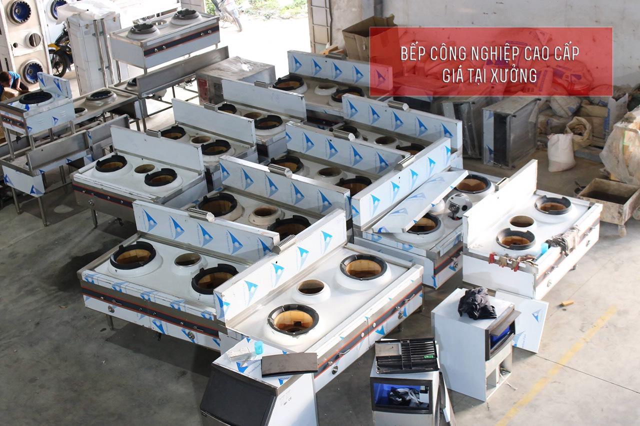 Hình ảnh sản xuất bếp á quạt thổi tại xưởng An Việt Phát