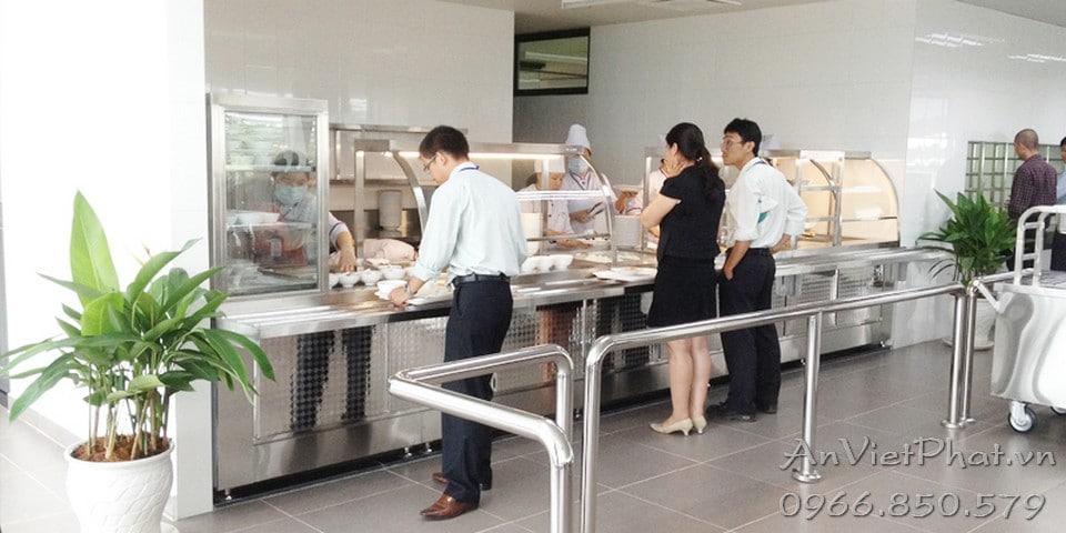 Lắp đặt tủ giữ nóng cho căng teen nhà ăn văn phòng